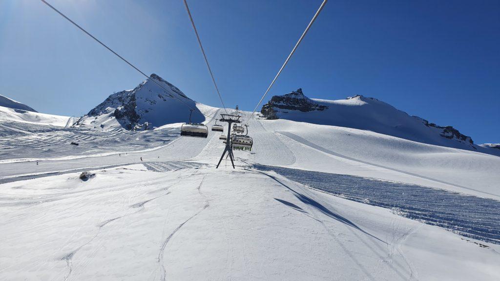 Zermatt ski course in November