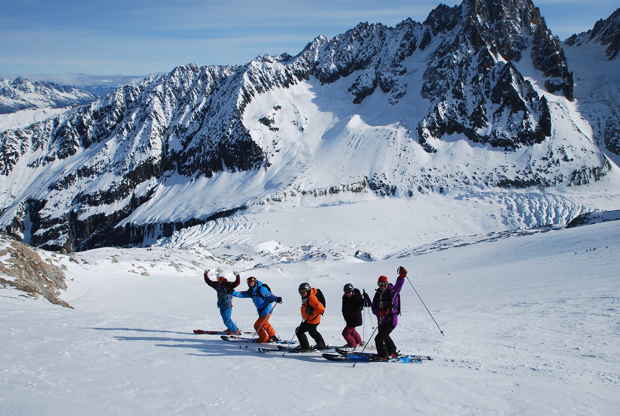 Intermediate off piste ski courses