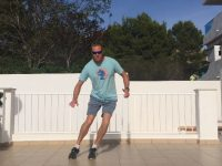 Ski fitness - lateral jumps exercise