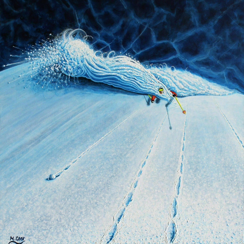 Ski Paintings - Ski Art by Mark Gear